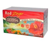 Té de hierbas de condimentos celestiales rojo Zinger (6x20bag)