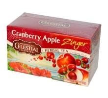 Té de hierbas de condimentos celestiales manzana arándano rojo Zinger (6x20bag)