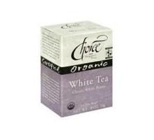 Tés orgánicos Choice blanco té (6 x 16 bolso)