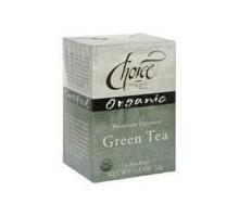 Tés orgánicos Choice Premium té verde japonés (6 x 16 bolso)